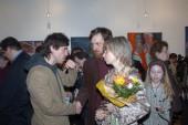 максим Покровский на открытии выставки Ильи Комова в галерее